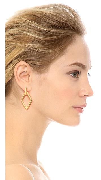 Kenneth Jay Lane Cutout Earrings