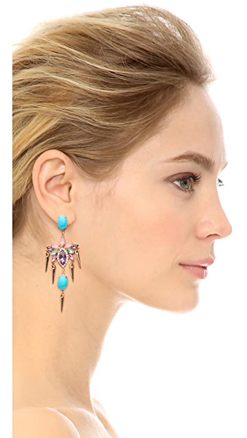 Kenneth Jay Lane Crystal Statement Earrings