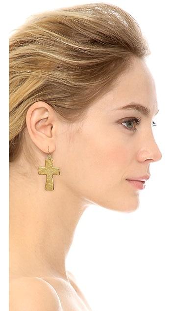 Kenneth Jay Lane Cross Earrings