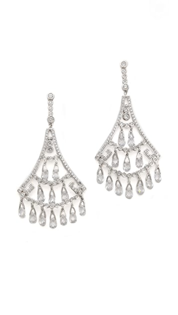 Kenneth Jay Lane Crystal Fan Briolette Earrings