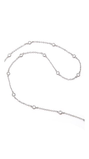 Kenneth Jay Lane Crystal Drop Lariat Necklace