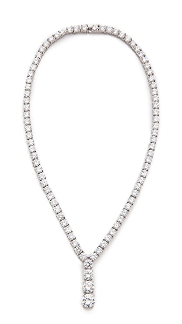 Kenneth Jay Lane Riviere Y Drop Necklace