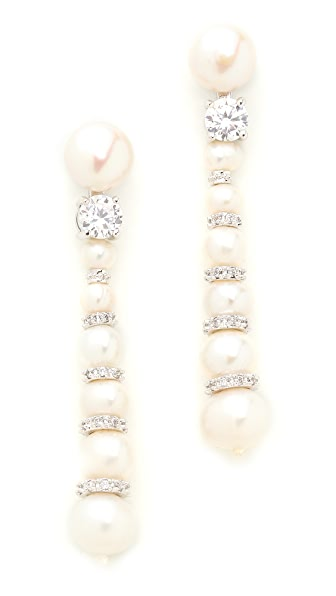 Kenneth Jay Lane Snowman Earrings