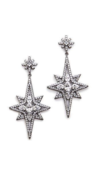 Kenneth Jay Lane Elongated Star Earrings