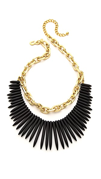 Kenneth Jay Lane Stone Fringe Chain Necklace
