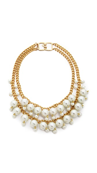 Kenneth Jay Lane Imitation Pearl Layer Necklace