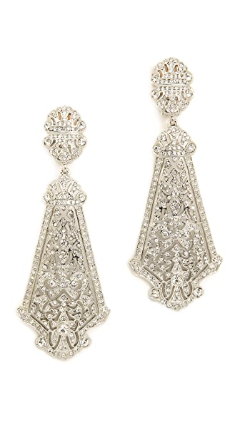Kenneth Jay Lane Crystal Clip On Earrings