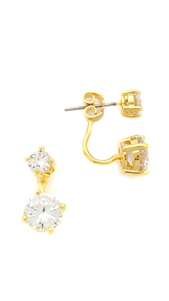 Kenneth Jay Lane Double Crystal Earrings