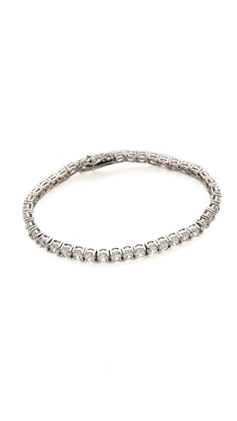 Kenneth Jay Lane Round CZ Tennis Bracelet - Clear