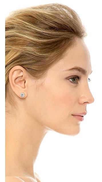 Kenneth Jay Lane Round CZ Stud Earrings