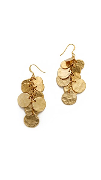 Kenneth Jay Lane Hammered Disc Earrings