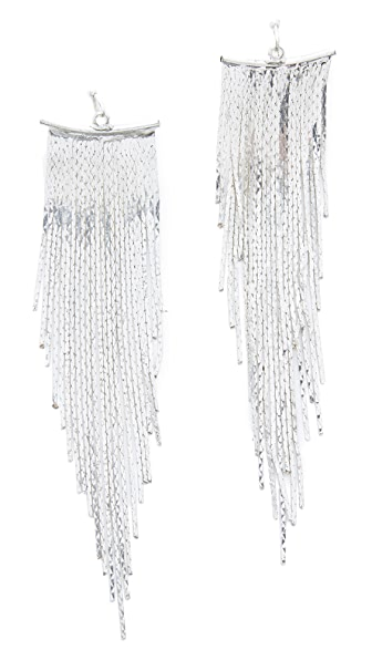 Kenneth Jay Lane Polished Fringe Earrings