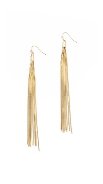 Kenneth Jay Lane Snake Chain Tassel Earrings
