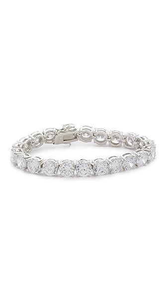 Kenneth Jay Lane CZ Bracelet - Silver/Clear