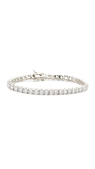 Kenneth Jay Lane CZ Bracelet - Silver/Clear