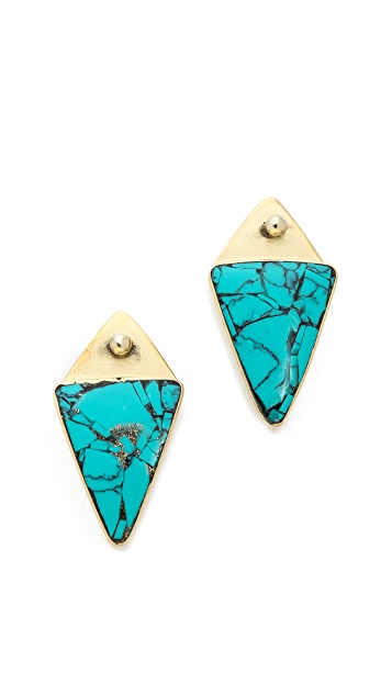 Karen London Desert Moon Stud Earrings