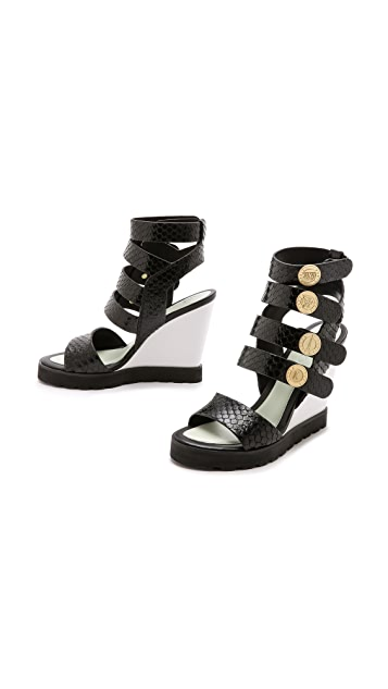 KENZO Victoire Wedge Sandals
