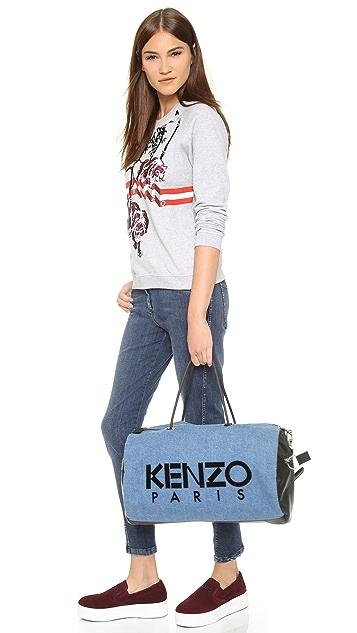 KENZO Denim Duffel Bag