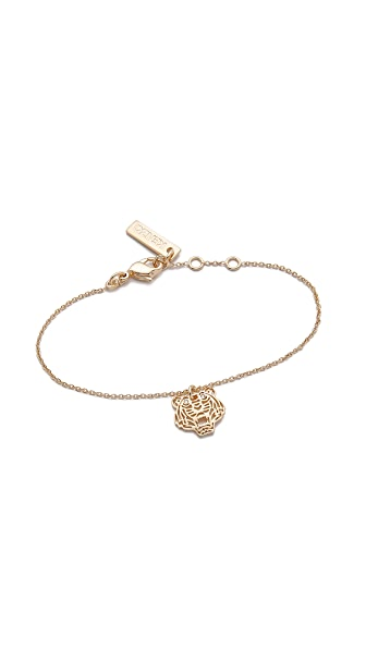 KENZO Mini Tiger Bracelet In Gold