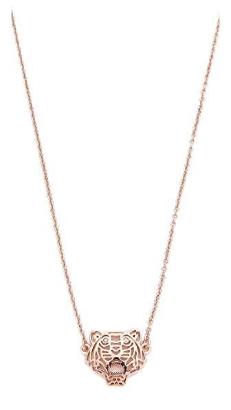 KENZO Mini Tiger Necklace - Pink Gold