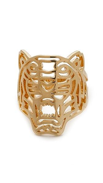 KENZO Tiger Ring - Gold