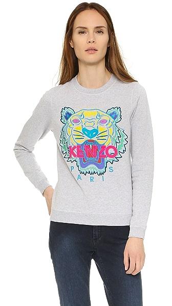 KENZO Classic Tiger Sweatshirt - Light Grey