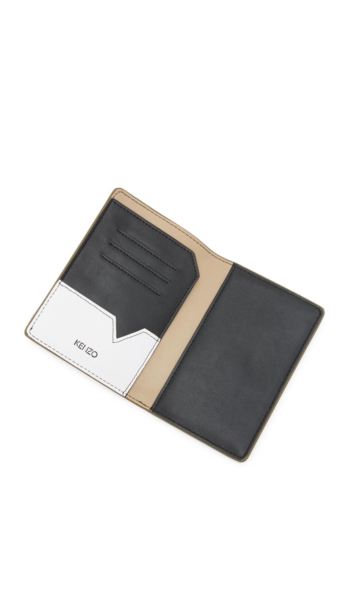factory authentic 11dd8 0b17c KENZO Flying Logo Passport Holder | SHOPBOP