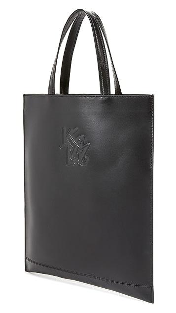 KENZO Paris New York Leather Tote