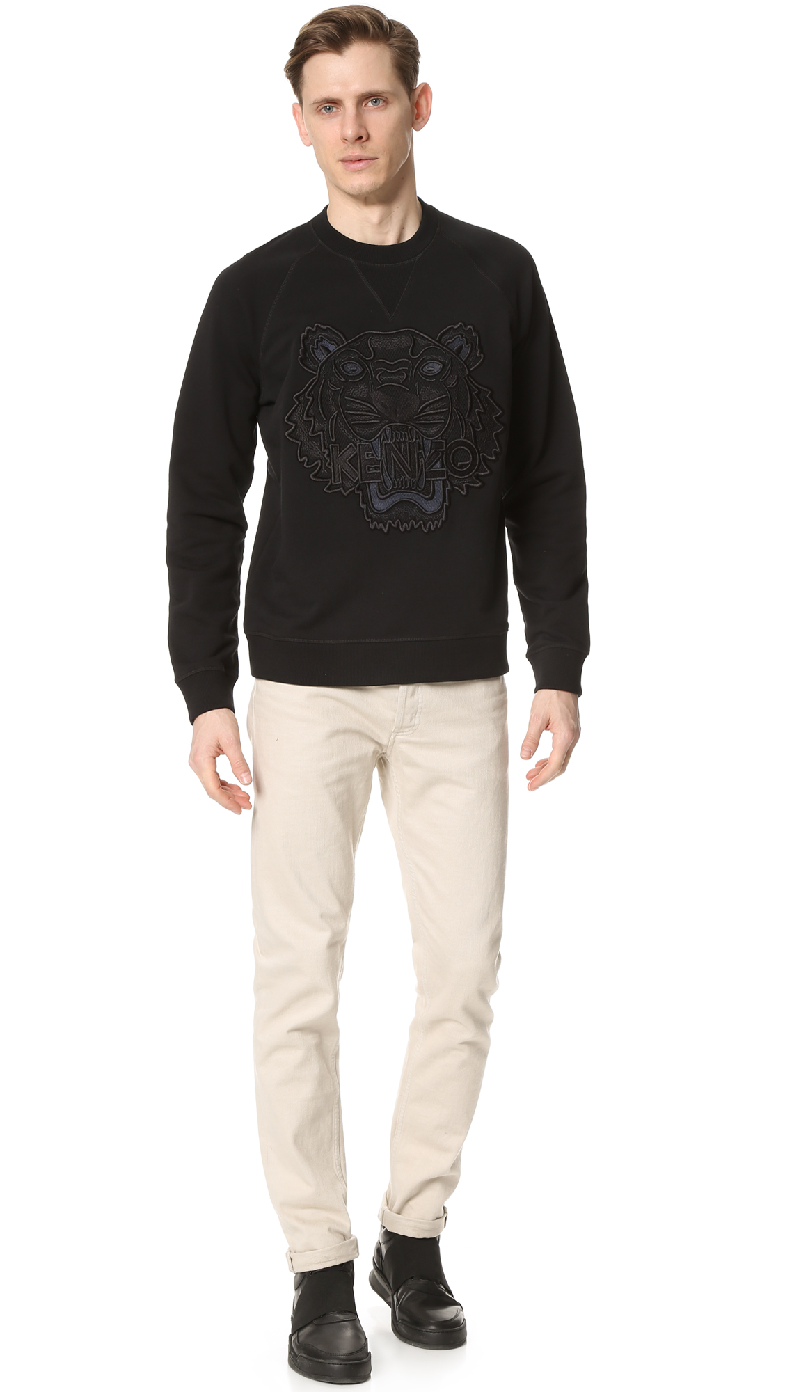 Mesh SweatshirtEast Kenzo Tiger Raglan Dane XZkiPu