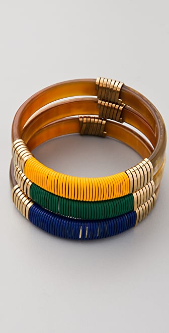 Kora Set of 3 Wide Polychrome Ruma Bangles