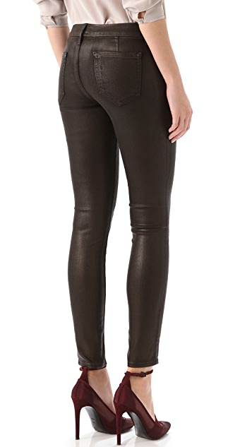 KORAL Simple Dark Coated Jeans