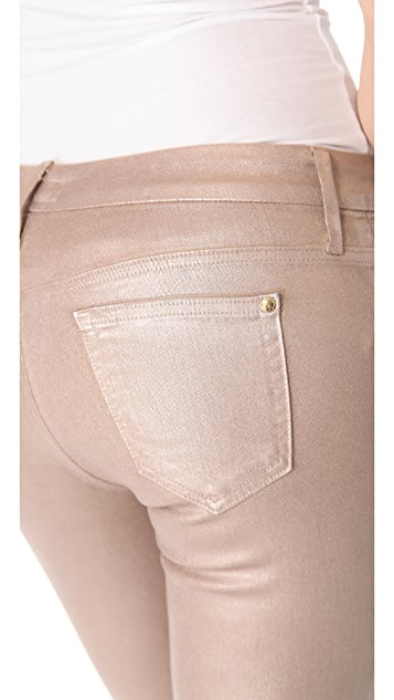 KORAL Metallic Coated Skinny Jeans