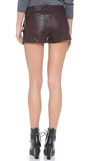 KORAL Leather Coated Trouser Shorts