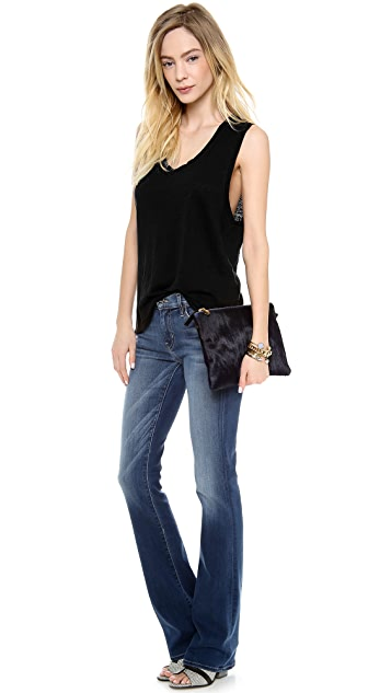 KORAL Mid Rise Boot Cut Jeans