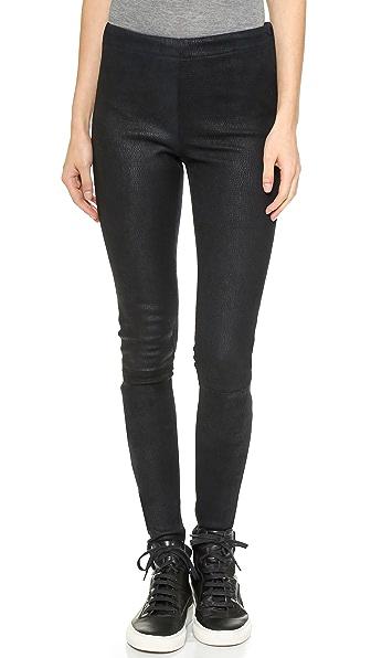 KORAL Leather Side Zip Skinny Pants