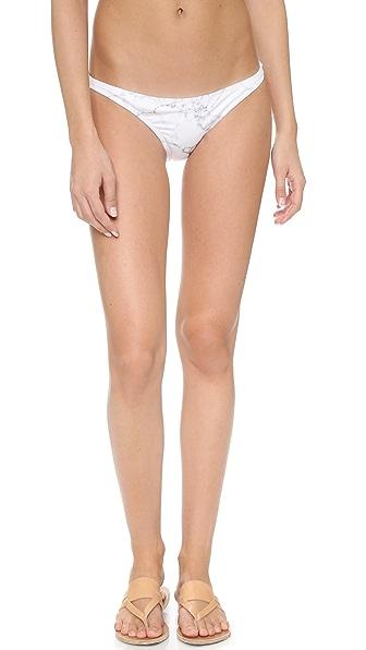 Kore Swim Maia Gray Marble Bikini Bottoms - Grey/Black/White at Shopbop