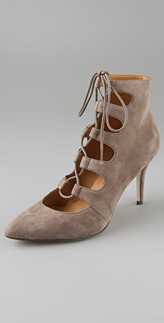 KORS Michael Kors Sandra High Heel Suede Booties