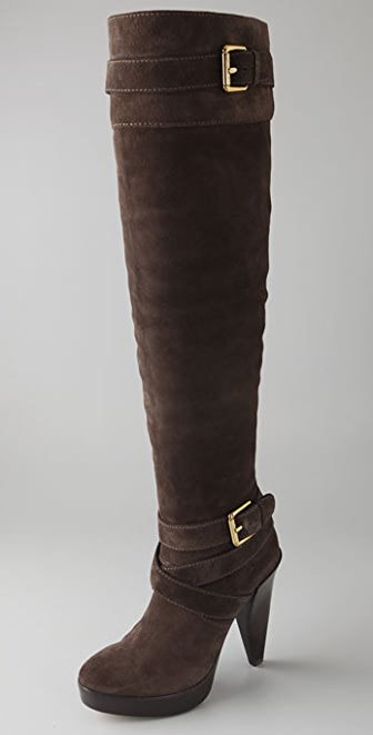KORS Michael Kors Zanzia Suede Over the Knee Boots