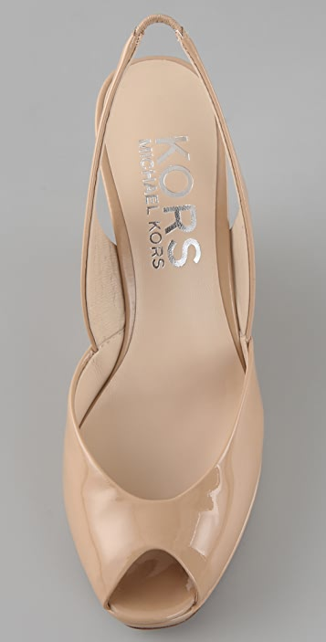 KORS Michael Kors Vivian Open Toe Wedge Sandals