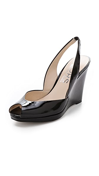 KORS Michael Kors Vivian Open Toe Wedge Sandals