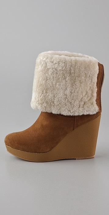 KORS Michael Kors Horwich Suede Wedge Boots