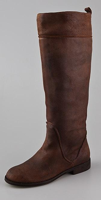 KORS Michael Kors Nicolette Suede Riding Boots