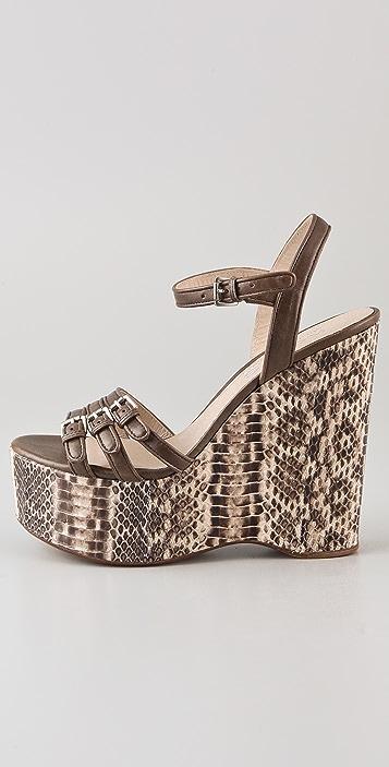 KORS Michael Kors Jacinda Snake Wedge Sandals