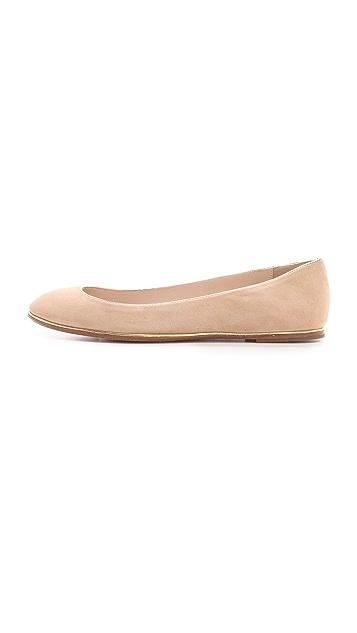 KORS Michael Kors Odell Round Toe Ballet Flats