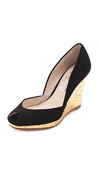 KORS Michael Kors Vail Peep Toe Wedge Pumps