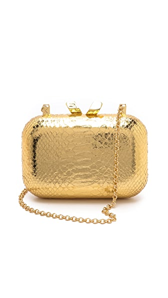 Kotur Margo Embossed Snake Clutch