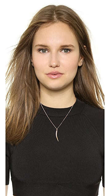 Katie Rowland Studded Feather Spike Pendant Necklace