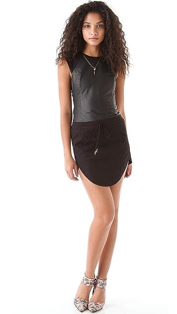 Ksubi Canvas & Leather Dress
