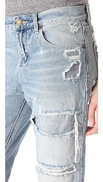 Ksubi Boyfriend Ripped Baggy Jeans