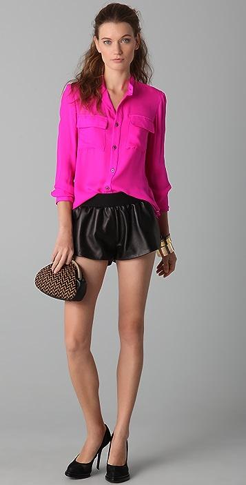 Kimberly Taylor Goa Leather Shorts